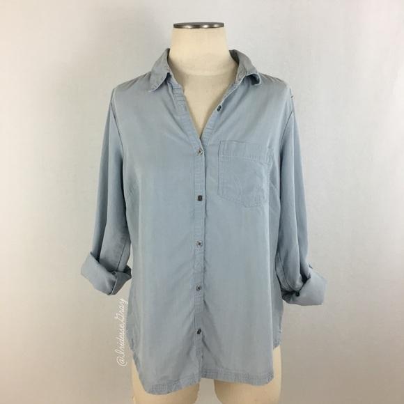 6548e1cefb2 Columbia Tops | Sportswear Light Blue Tencel Shirt Sz M | Poshmark